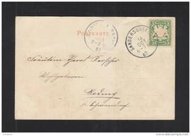 Postkarten-Kouvert von 1902